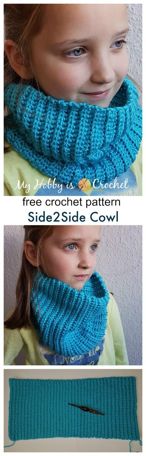 Side2Side Cowl - Free Crochet Pattern on myhobbyiscrochet.com