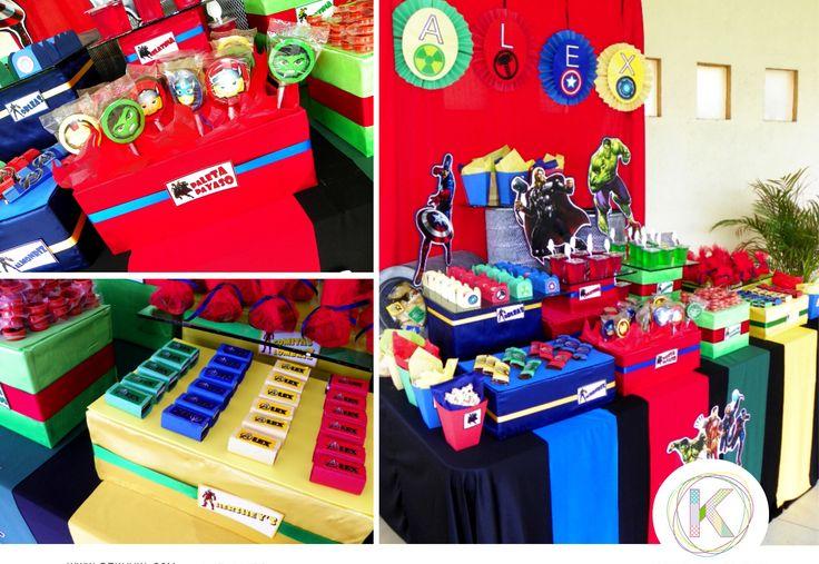 Mesa de dulces cumplea os fiesta thor hulk ironman for Mesas dulces cumpleanos