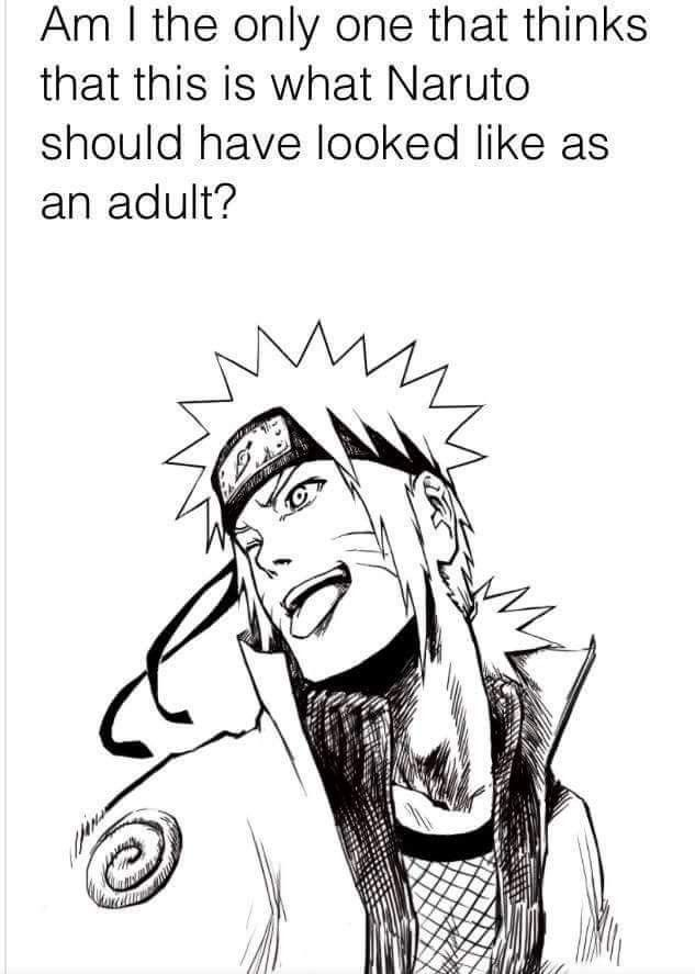 Ahh, Naruto-kun, you're so handsome like this