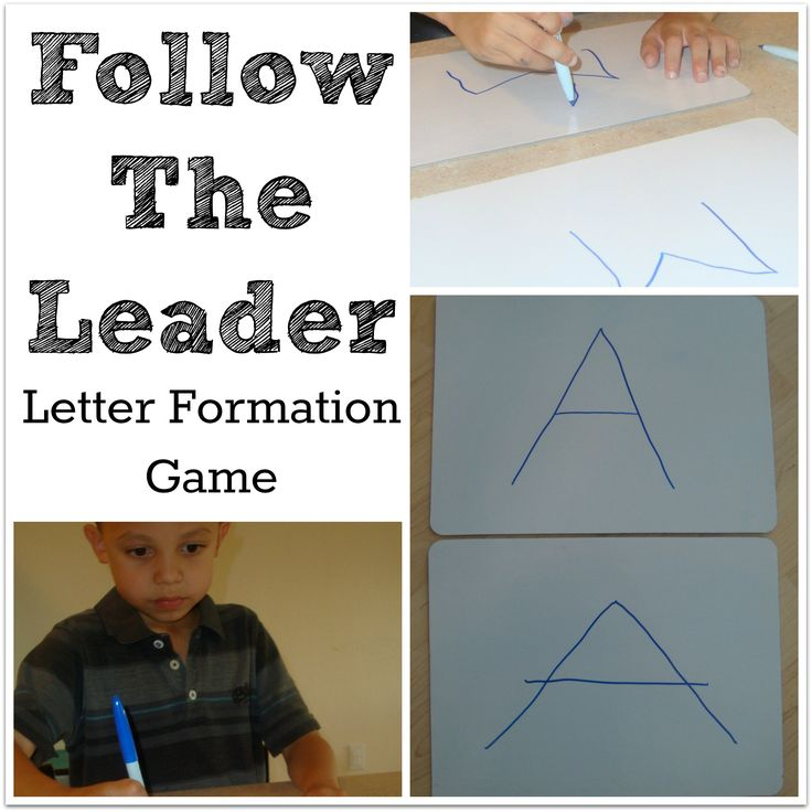 Follow The Leader Letter Formation Game