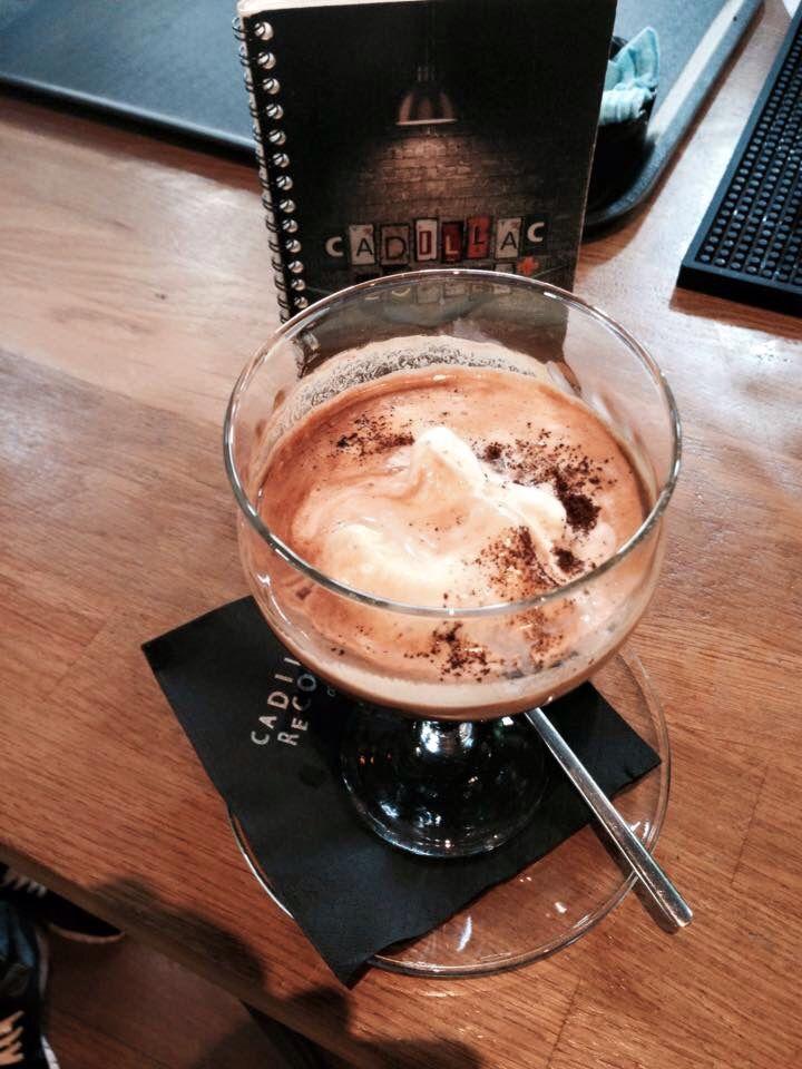 Affogato coffee  Cadillac Records Bar , Karditsa , Greece  #coffee #espresso #affogato