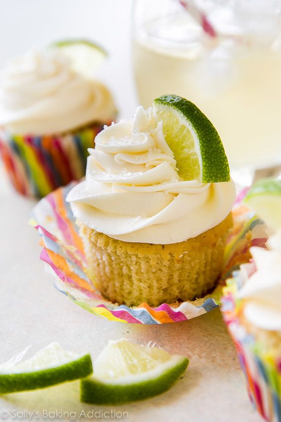Margarita Cupcakes with Tequila Lime Frosting on sallysbakingaddiction.com