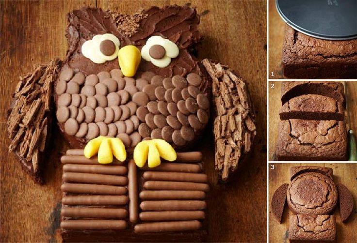 #HTM torta de buho mmm