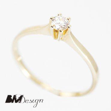 klasyczny pierścionek zaręczynowy z diamentem Rzeszów