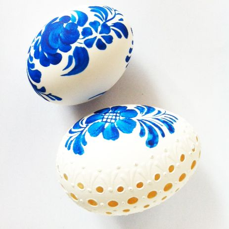 Pisanki - eggs made in Poland by folk artist from Włocławek.