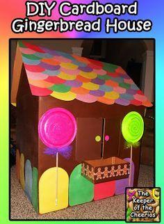 Cardboard Gingerbread Playhouse DIY