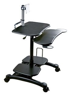 Computer Desk - Popdesk Mobile Computer Cart  The Popdesk mobile computer desk allows for an entire workstation in a compact space.