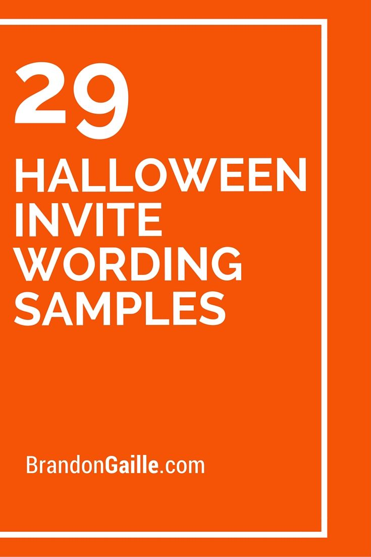 29 Halloween Invite Wording Samples Halloween