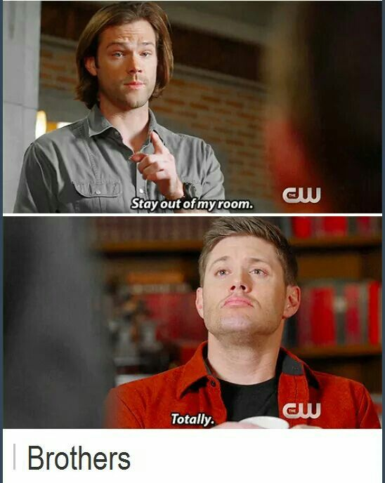 Brothers // Funny // Supernatural Humor // Winchester