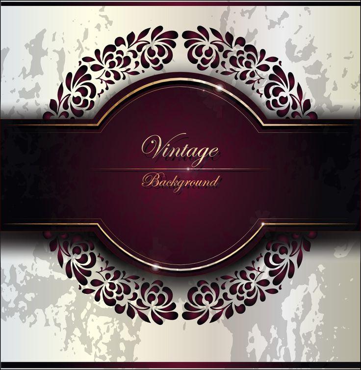 wedding card backgrounds vectors%0A Purple Vintage Backgrounds vector set