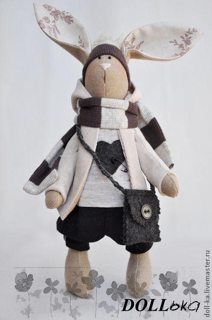 Игрушки животные, ручной работы. Ярмарка Мастеров - ручная работа Заяц Макс (текстильная игрушка) продан. Handmade.