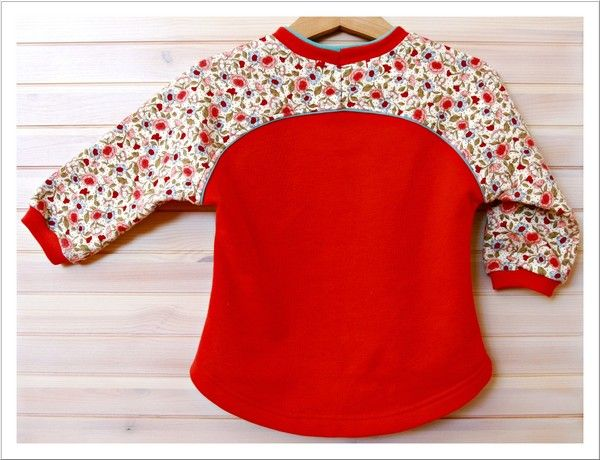 Cute Mini Bethioua Raglansleeve size 86. Free sewing pattern