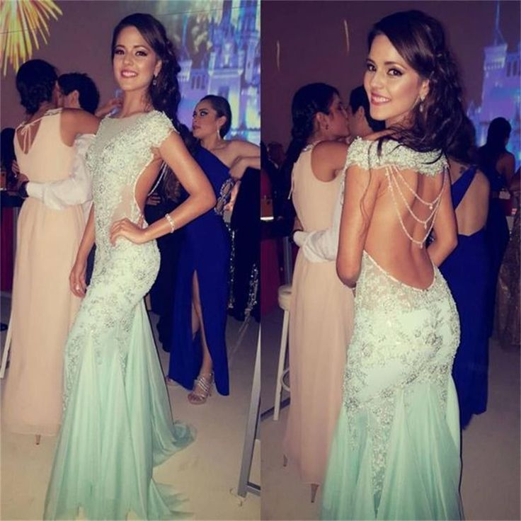 Backless Sexy Charming Beautiful New Arrival Evening Long Prom Dresses Online, PD0141
