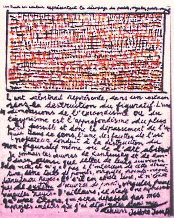 Tableau fragmentariste, 1991 – Isidore ISOU