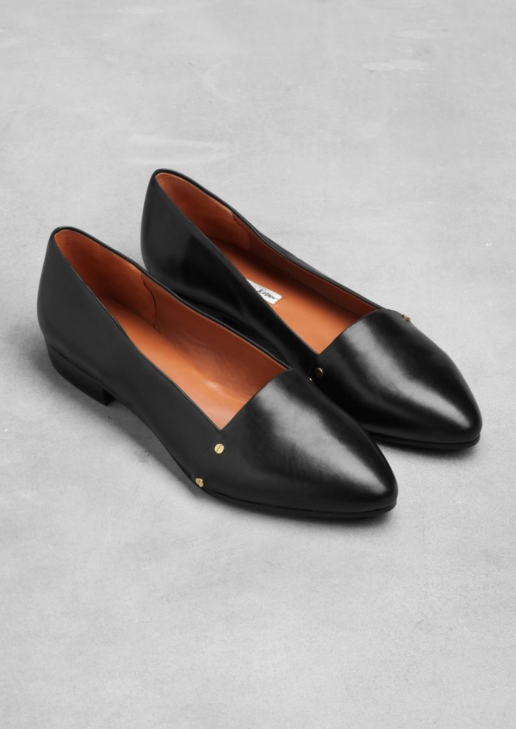 Leather flats by & Other Stories