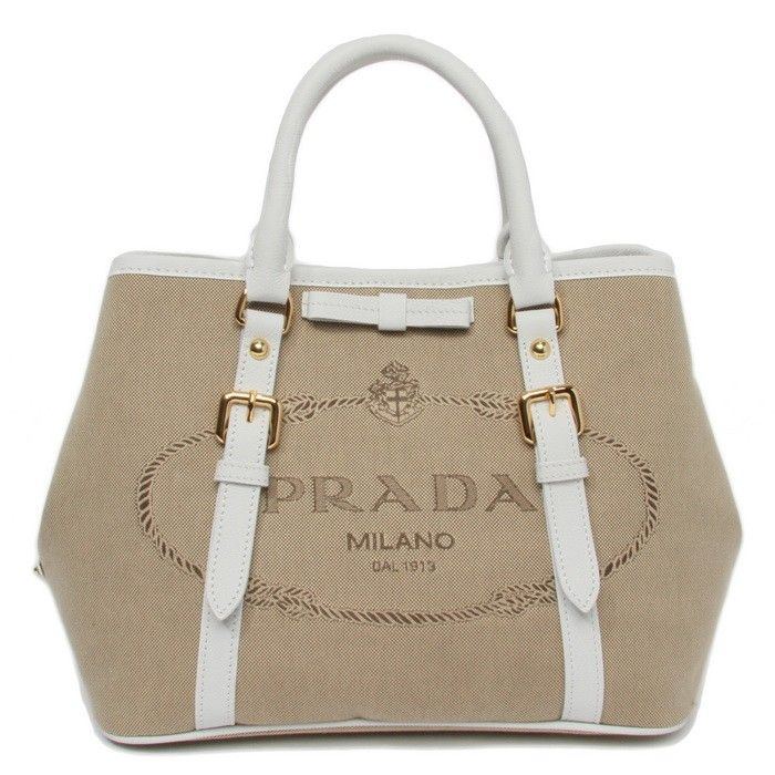 Prada SS 2014-Prada Bow Canvas tote BN1841 white,Prada outlet sale