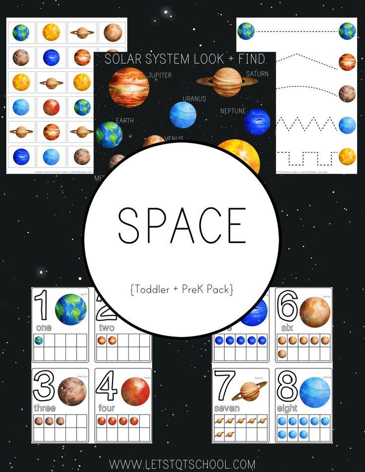 Space Toddler & PreK Pack