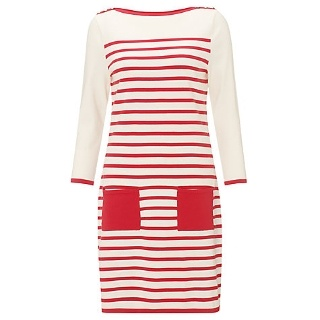 Buy Somerset by Alice Temperley Stripe Tunic Dress, Cream/Red Online at johnlewis.com