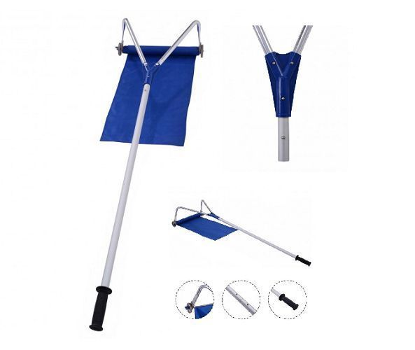 Snow Removal Roof Telescoping Cleaner Rake 20 Ft Aluminum Wheels   #SnowRemovalRoof