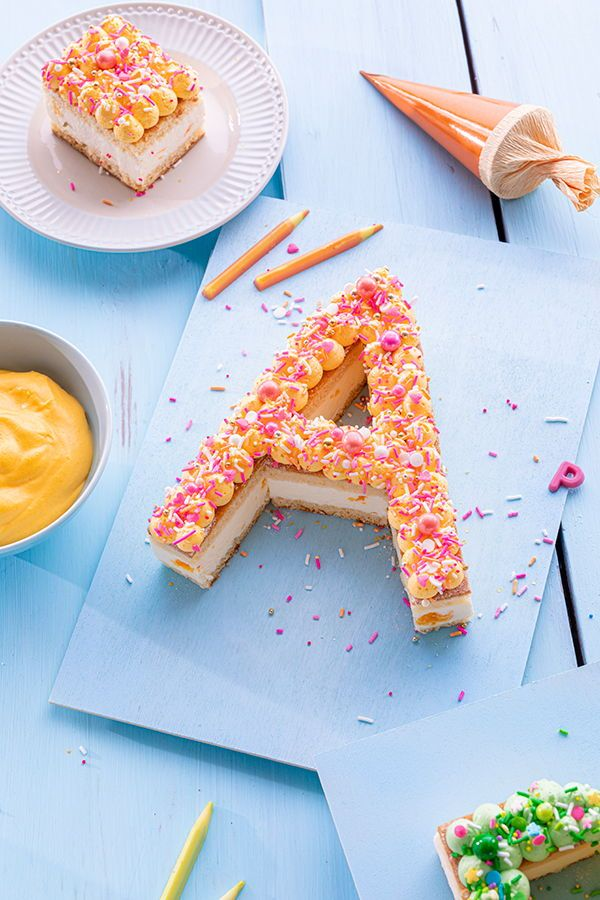 Abc Mini Lettercakes Zur Einschulung In 2020 Kuchen Einschulung Kuchen Mit Fondant Einschulung Feier