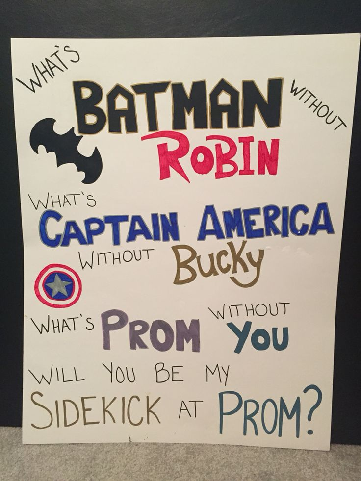 Need an idea to ask your superhero boyfriend to prom? Here's a simple way to ask!