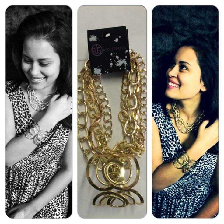 Gold chain and cuff