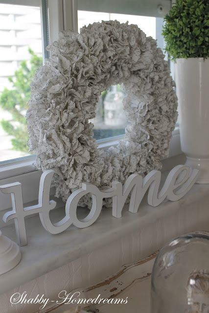 Wreath for the fire place.. LOVE this idea cb