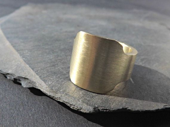 mens signet ring brass brass signet ring gents ring by CrazyAssJD