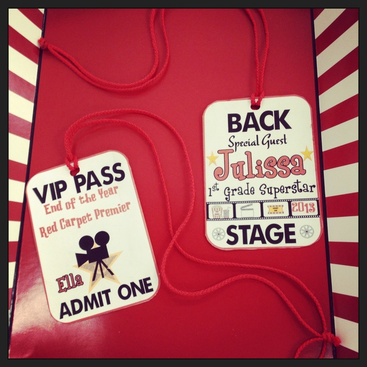 Classroom Vip Ideas : Vip pass end of the year party hollywood themed