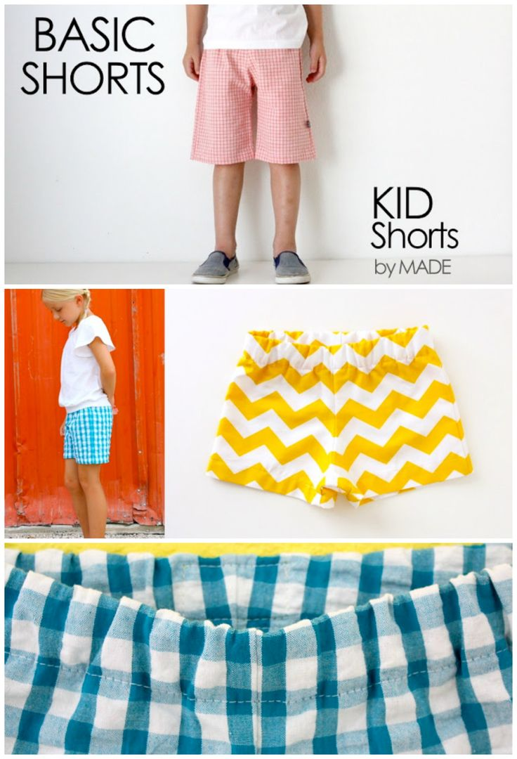 kids shorts pattern