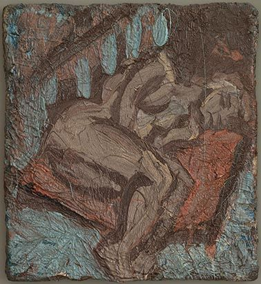 Pauline Asleep on a Large Pillow. Leon Kossoff