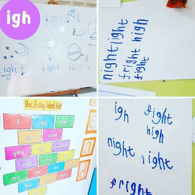 Phase 3 phonics teaching - teaching the igh sound! This week we are practising the /igh/ sound - was exciting to work on a 3 lettered sound and explain to the children that the g  and h are silent! . Stay up to date on our instagram stories so you do not miss our Tuesday #phonics tips #tuesdaytips . . . #phonicswitha4yearold #mamateachesme #phonics #tuesdaytips #jollyphonics #phase3phonics #homeschooling #homeeducation #sounds #lettersandsounds #learningtoread #phase3sounds #igh #ighsound…