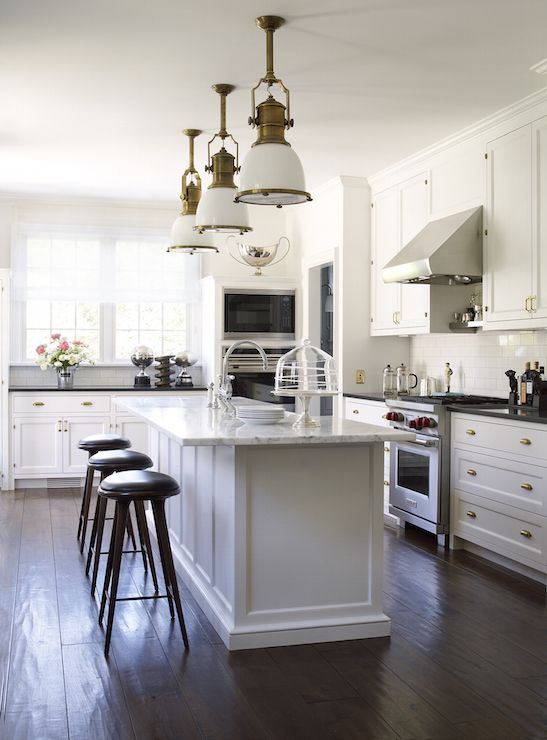 Country Industrial Pendant With Glass Shade   Transitional   Kitchen   John  Hummel