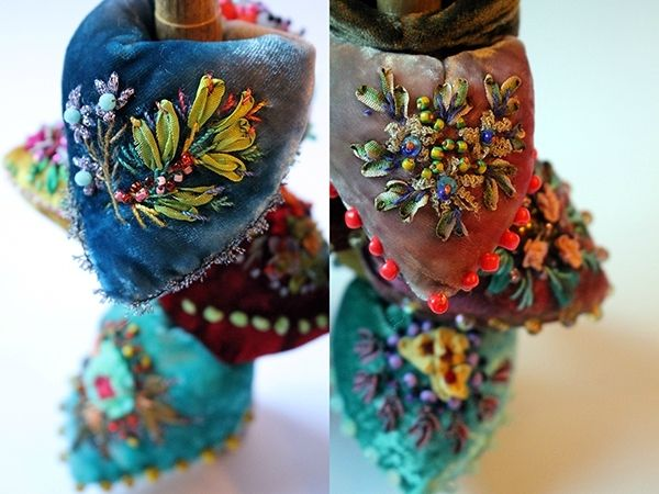 These are a type of pincushion that you put on your finger like a ring.