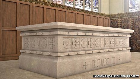 Richard III tomb design. The Richard III Society said the design had been worked on for several years.