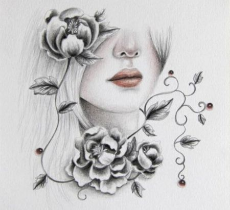 Pencil drawing · pencil drawingspencil artflower