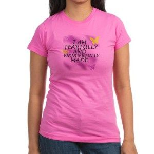 """wonderfully_made_junior_jersey_tshirt_dark  Bible Verse- Psalm 139:14 """"I will praise You, for I am fearfully and wonderfully made; Marvelous are Your works, And that my soul knows very well."""" http://angelsconciergeapparel.wordpress.com  #bibleverse #bibleverses #spiritual #inspiration #Jesus #Christianapparel #Christianclothing  #Blog #faith #faithwear #fashion"""