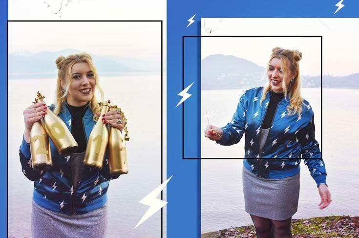 A/W Outfit: New Year! 2017  Cosa ho indossato a capodanno? Quali sono i miei buoni propositi?  #winter #inverno #milano #ootd #ootn #outfit #style #look #fashion #autunno #autumn #aw #chic #elegant #girly #rock #shein #zara #silver #argento #nero #black #blu #blue #bomber #newyearseve #capodanno #lingerie