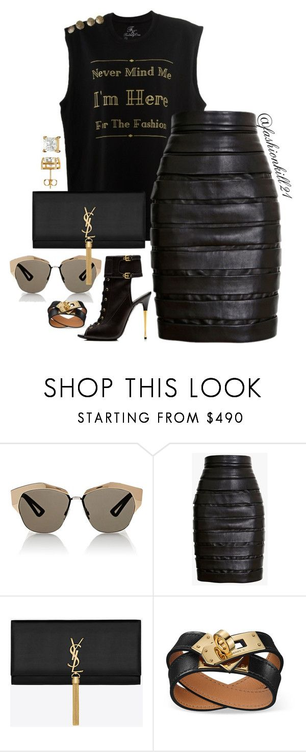 """""""Never mind"""" by fashionkill21 ❤ liked on Polyvore featuring Christian Dior, Balmain, Tom Ford and Yves Saint Laurent"""