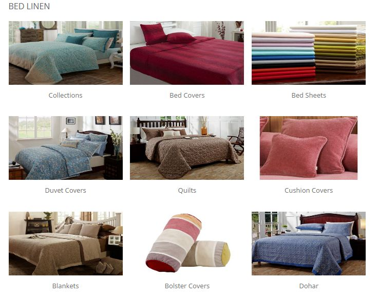 Buy Bed Linen online in India at Maspar.com. Shopping online from the latest collections of polycotton, silk, & cotton bed linen available in various colors & sizes online at the best prices.