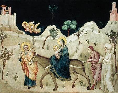 Huída de egipto, Giotto di Bondone,
