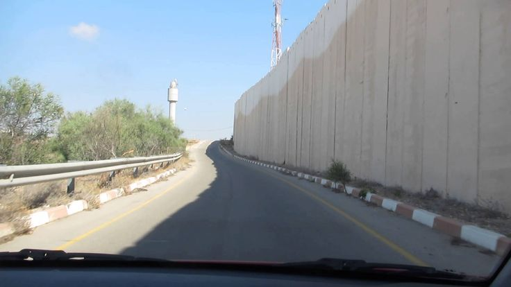 The wall between the Gaza Strip and Israel ... You have to see it (Taken...