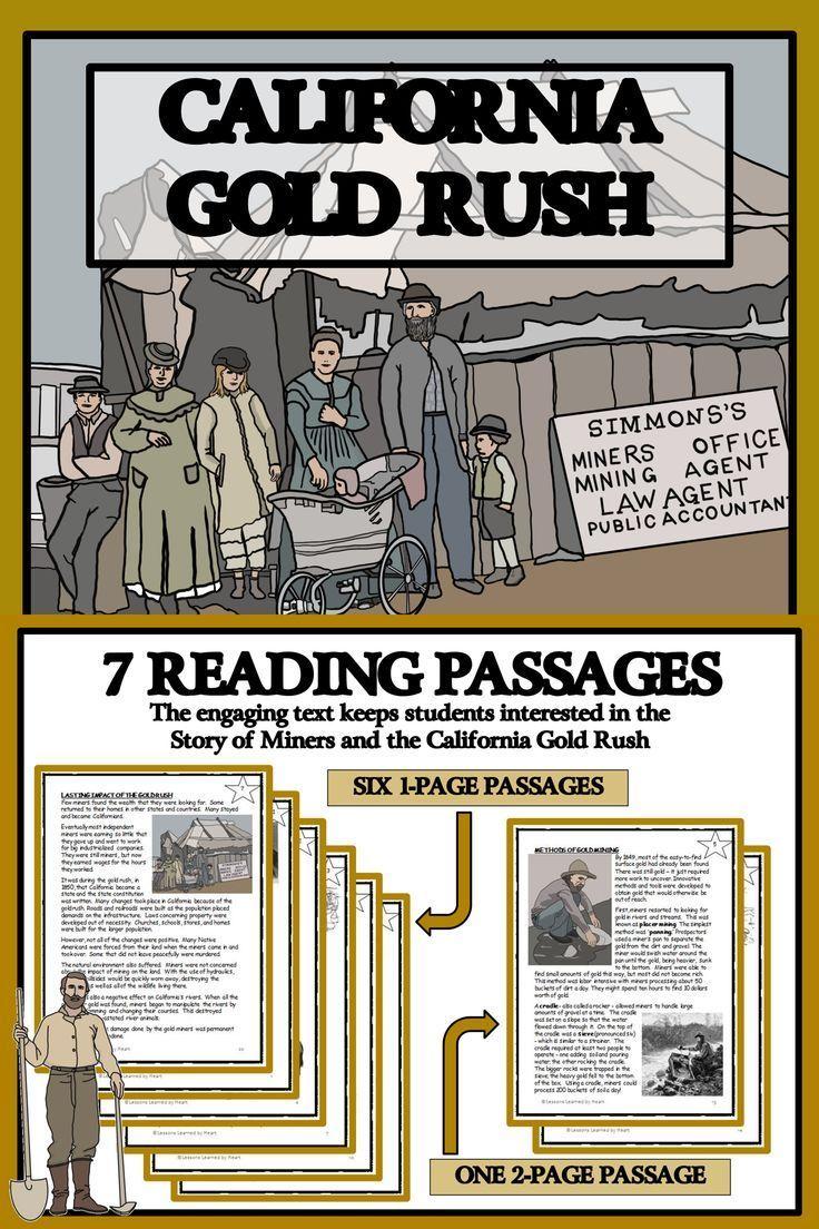 Gold Rush Reading Passages Print Read In 2020 California Gold Rush Teachers Are Terrific Gold Rush