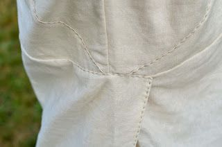 Close-up of side seams.