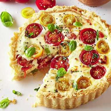 This colourful vegetarian tart makes the most of spring flavours, and can be seen on the front cover of our spring 2015 catalogue
