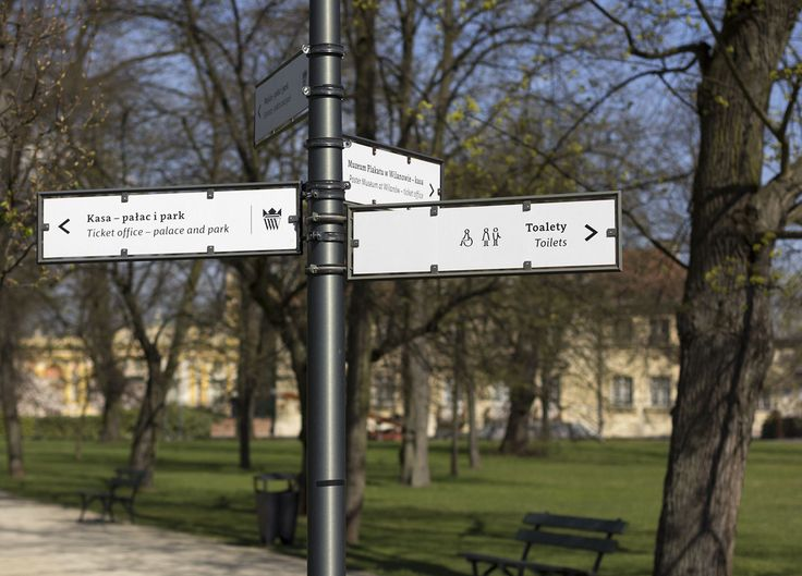 Wayfinding and Visual Identity in Wilanów on Behance