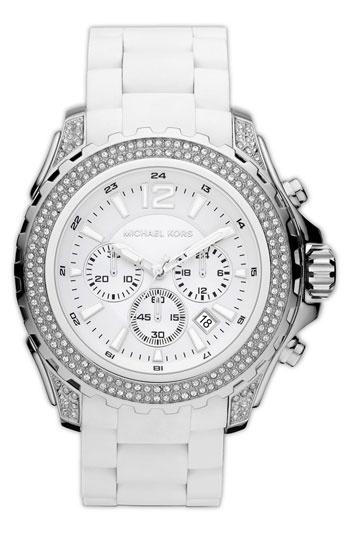 Michael Kors 'Drake' Silicone Bracelet Watch   Nordstrom