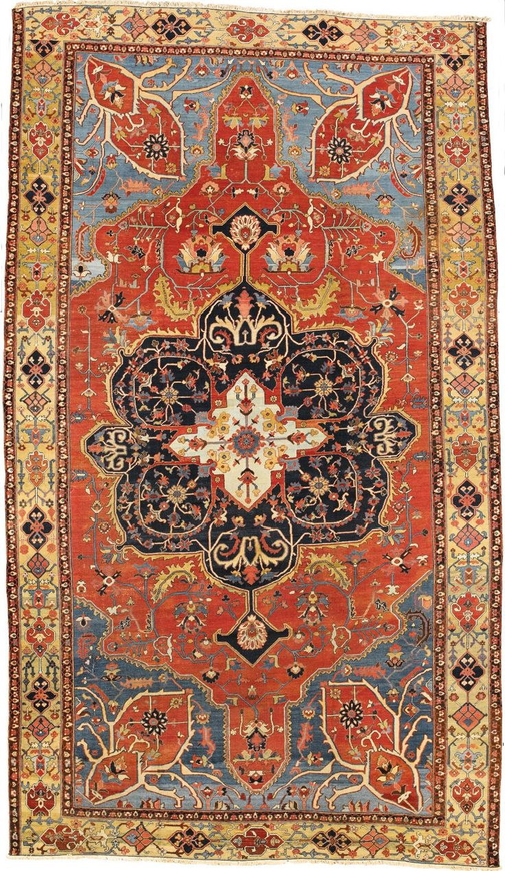 Persian Heriz rug, 5.99 by 3.40m., circa 1900, Sotheby's