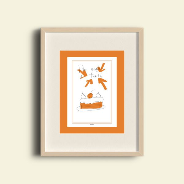 Stampa Digitale - Ho voglia di torta di Valeria Daws su DaWanda.com