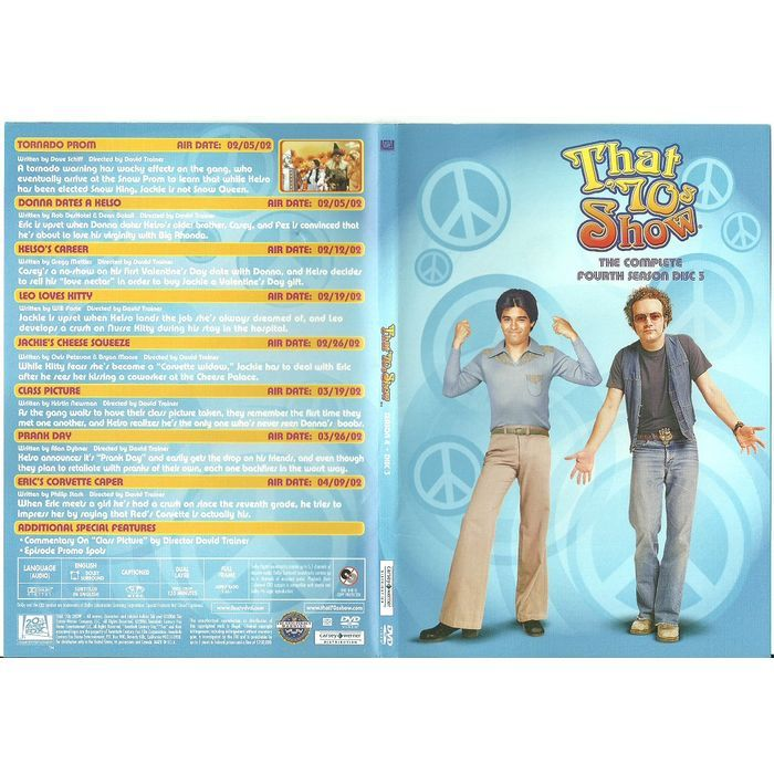 """Paper Label Artwork from DVD Case """"That '70s Show Season 4 Disc 3"""" Label Only Listing in the Other,DVD,Movies & DVD Category on eBid Canada 